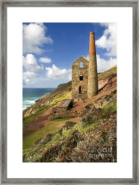 Cornish Tin Mine Framed Print