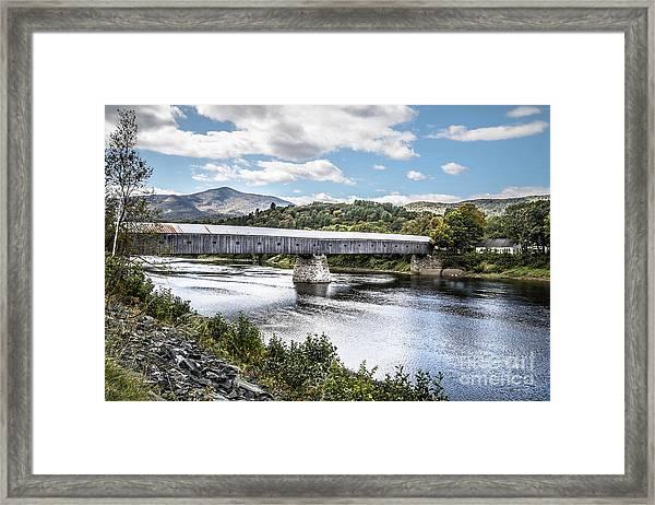 Cornish Windsor Covered Bridge Hdr 2 Framed Print