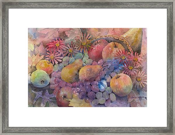 Cornucopia Of Fruit Framed Print