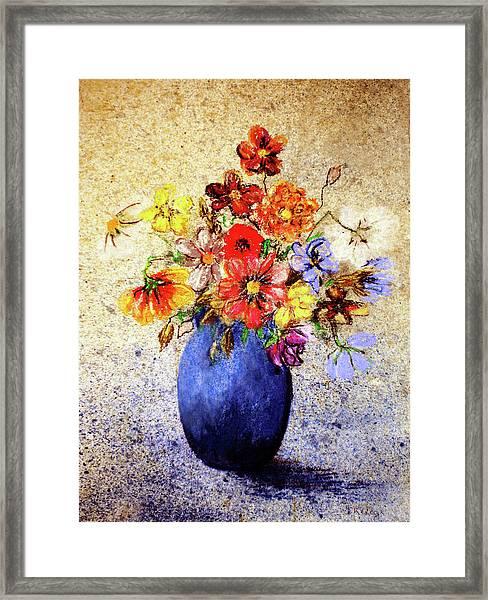 Cornucopia-still Life Painting By V.kelly Framed Print