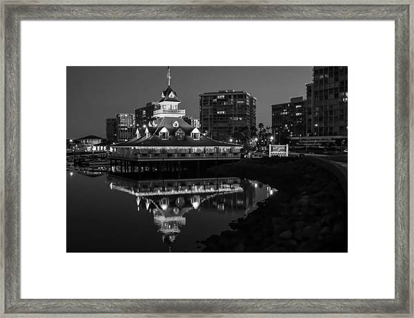 Coronado Boat House Framed Print by Robert Aycock