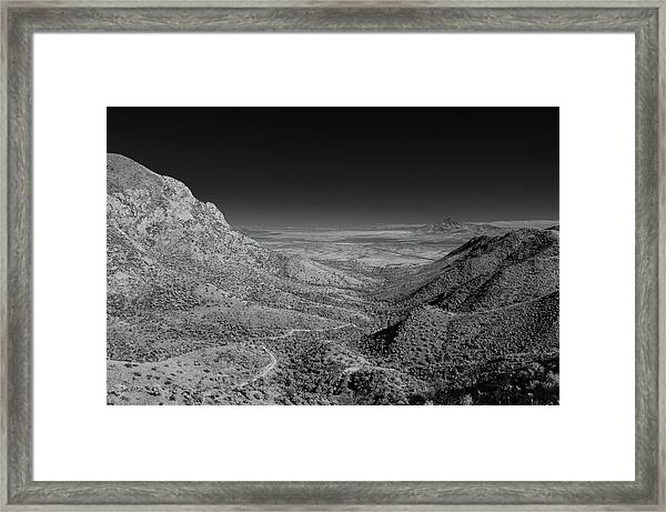 Coronado National Memorial In Infrared Framed Print