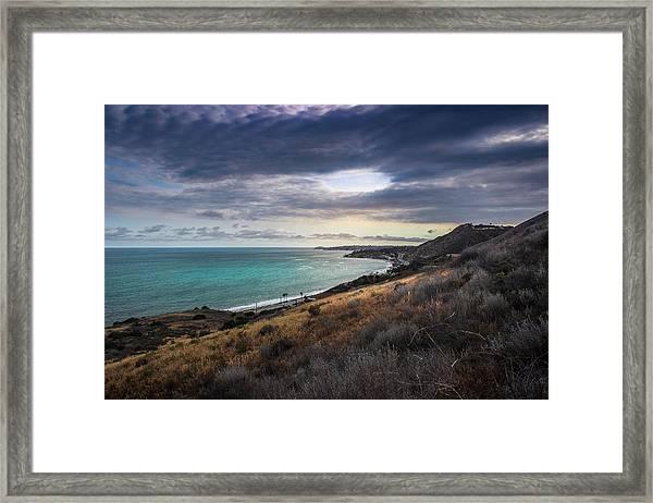 Corral Canyon Malibu Trail Framed Print