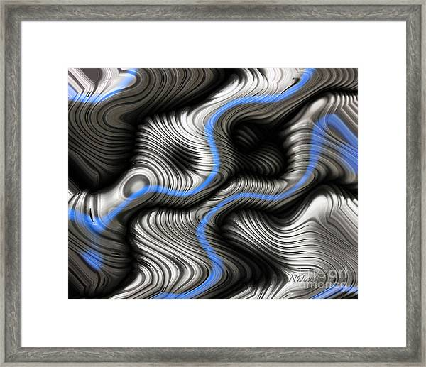 Corrugated Drain Pipe Abstract Framed Print