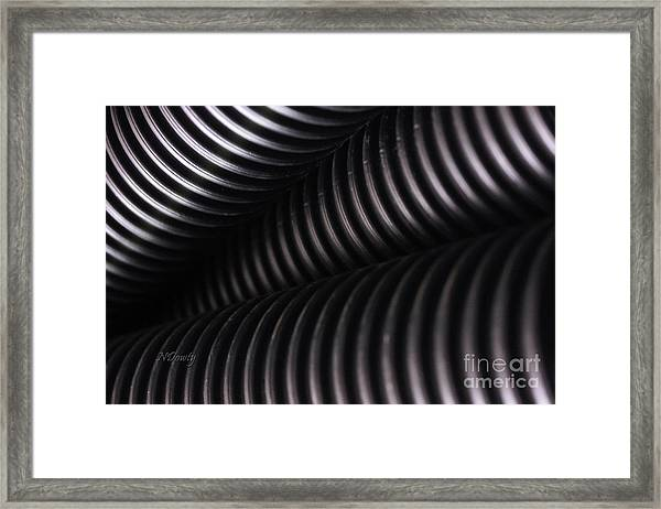 Corrugated Drain Pipe Shadow Framed Print