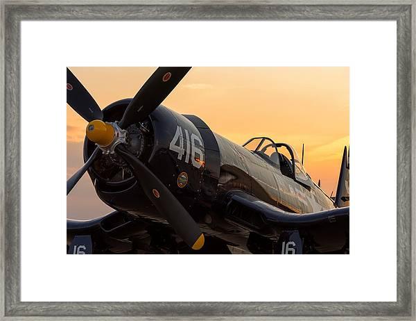 Corsair At Sunset Framed Print