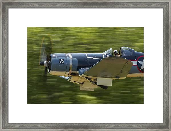 Corsair Close-up On Takeoff Framed Print