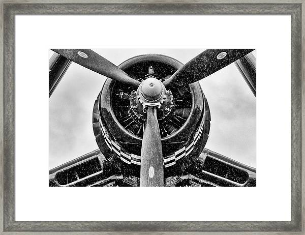 Corsair In Heavy Rain Framed Print