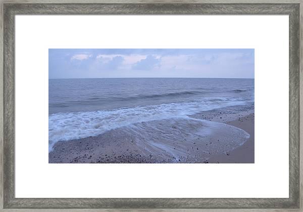 Corton Beach Dawn Ocean Waves 1 Framed Print by Richard Griffin