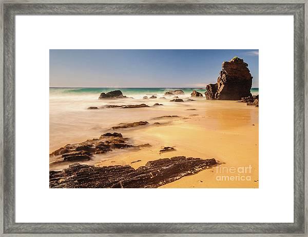Corunna Point Beach Framed Print