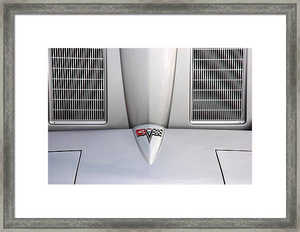Corvette Hood Framed Print