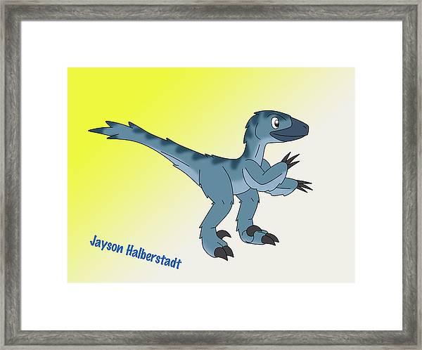 Cory The Raptor Framed Print