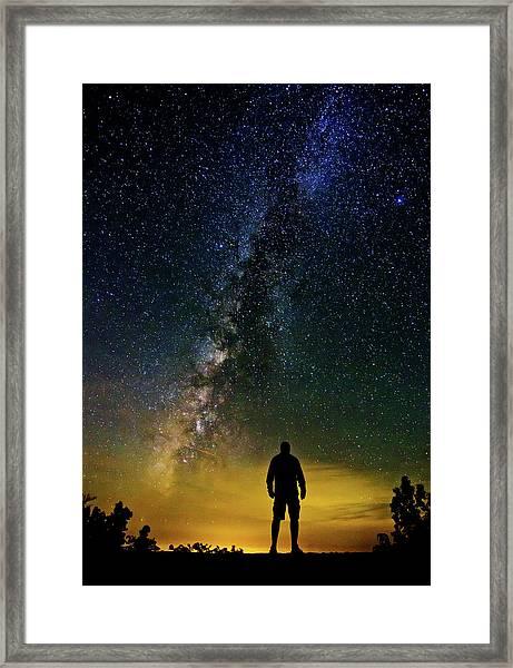 Cosmic Contemplation Framed Print