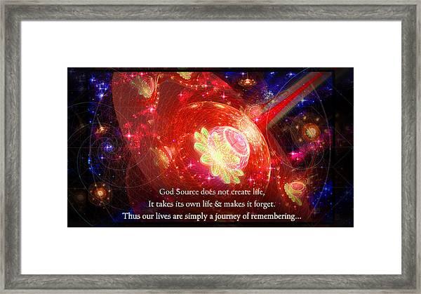 Cosmic Inspiration God Source 2 Framed Print