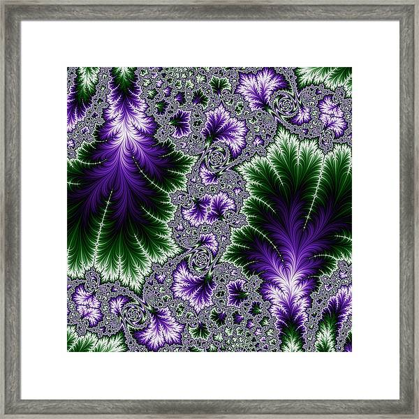 Cosmic Leaves Framed Print
