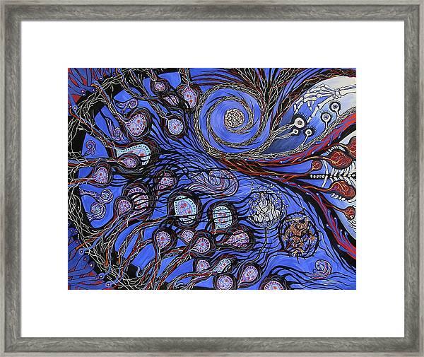 Cosmic Neural Network Framed Print