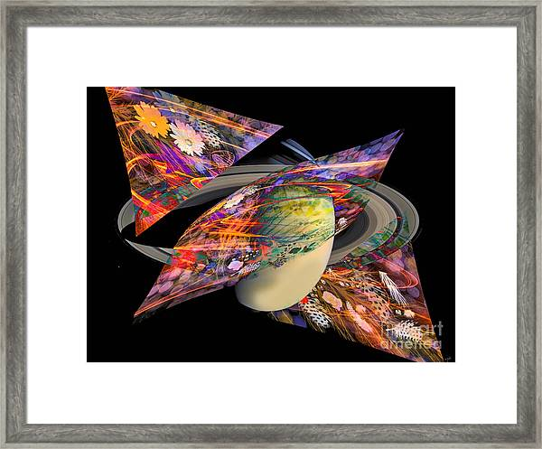 Cosmic Sensation Framed Print by Eleni Mac Synodinos