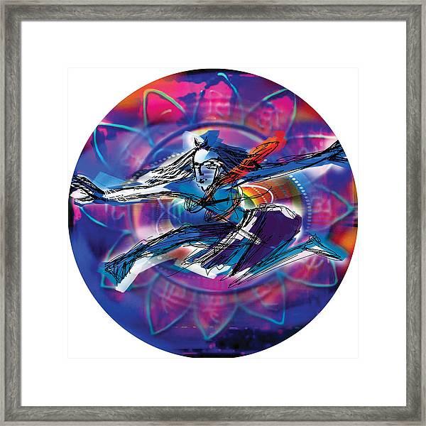 Cosmic Shiva Speed Framed Print