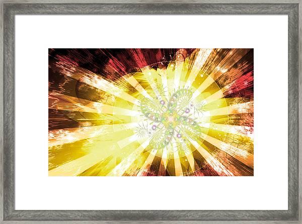 Cosmic Solar Flower Fern Flare 2 Framed Print