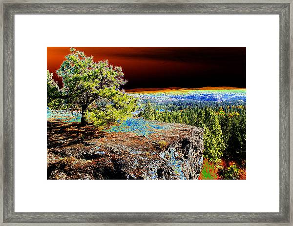 Cosmic Spokane Rimrock Framed Print