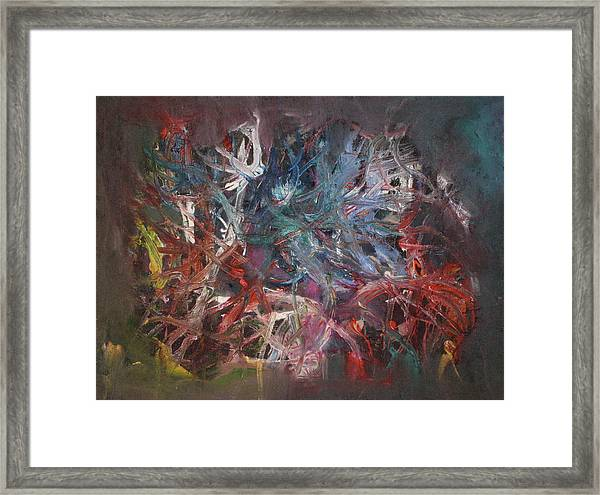 Framed Print featuring the painting Cosmic Web by Michael Lucarelli