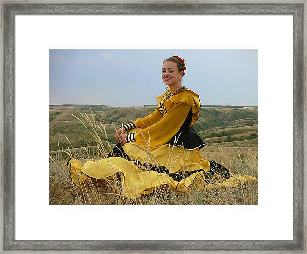 Cossack Young Lady Framed Print