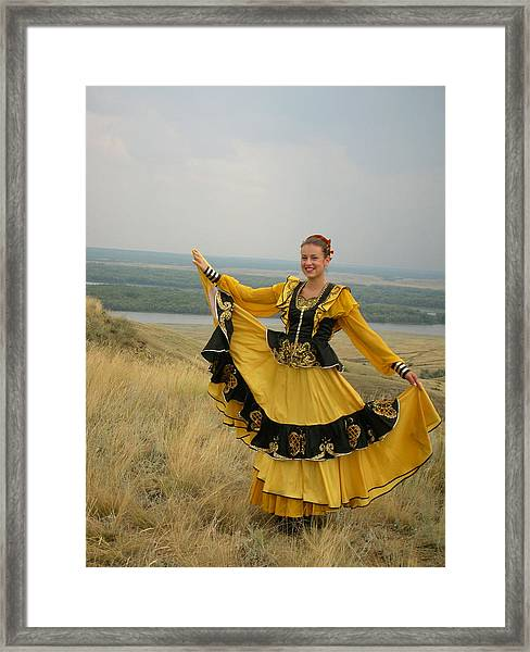Cossack Young Woman Framed Print