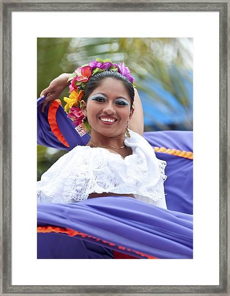 Costa Maya Dancer Framed Print