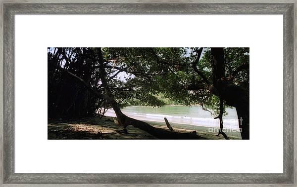 Costa Rica Beach Cove Framed Print