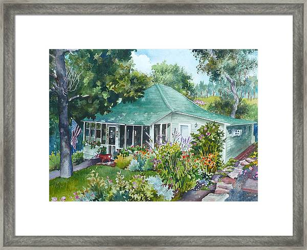 Cottage At Chautauqua Framed Print