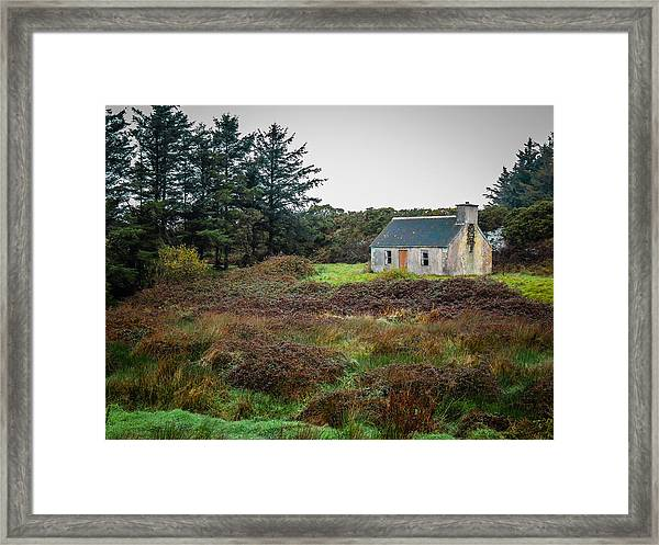 Cottage In The Irish Countryside Framed Print