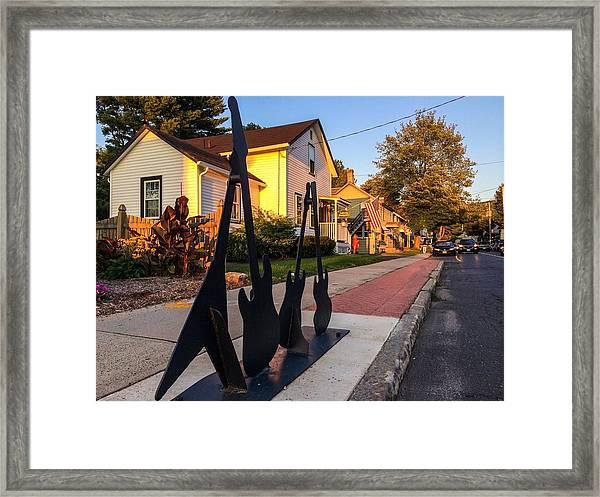 Cottage Street Guitars Framed Print