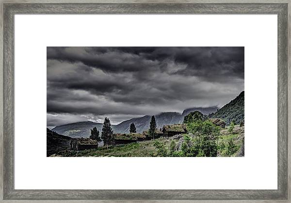 Cottages Framed Print