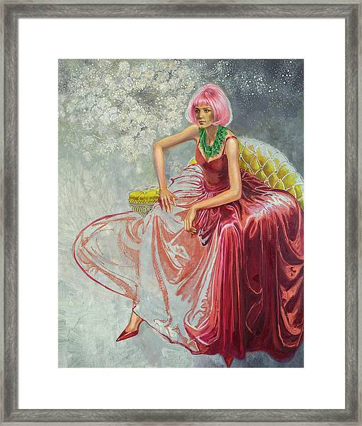 Cotton Candy Framed Print by Barbara Tyler Ahlfield