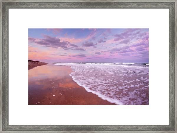 Cotton Candy Sunset. Framed Print