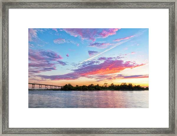 Cotton Candy Sunset Framed Print