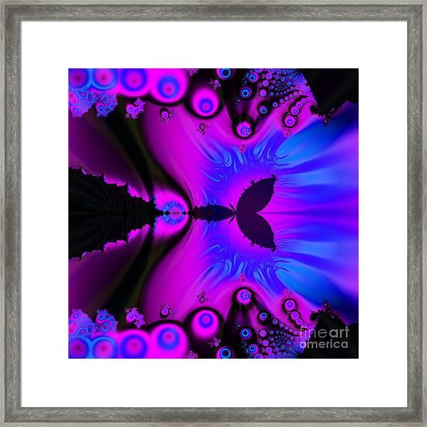 Cotton Candyland Fractal Framed Print