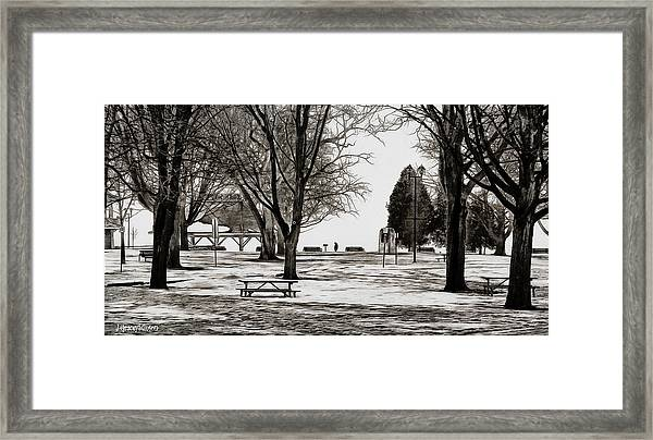 Couchiching Park In Pencil Framed Print