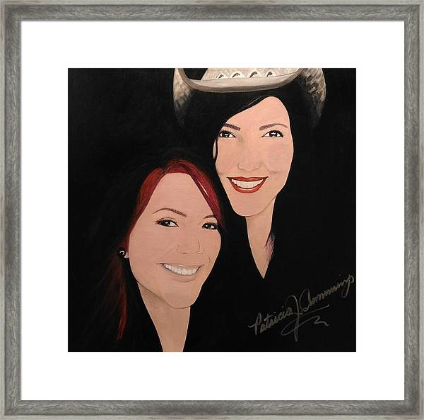 Cougrzz Rock Duo Framed Print