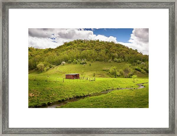 Coulee Morning Framed Print