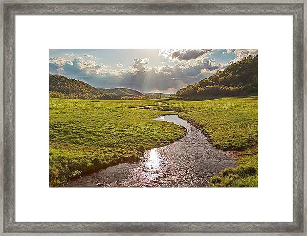 Coulee View Framed Print