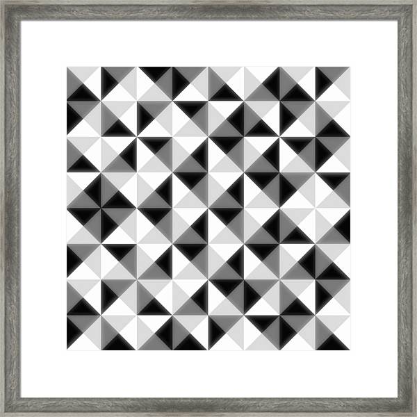 Count The Squares Framed Print