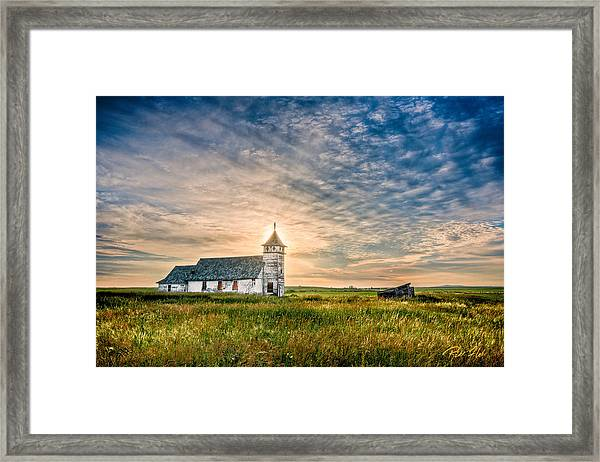 Country Church Sunrise Framed Print