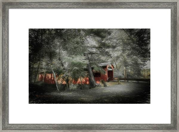 Country Crossing Framed Print