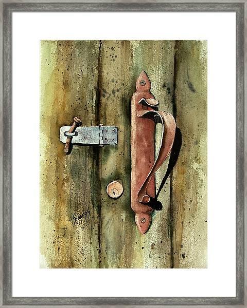 Country Door Lock Framed Print