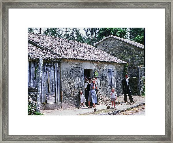 Framed Print featuring the photograph Country House And Family by Samuel M Purvis III