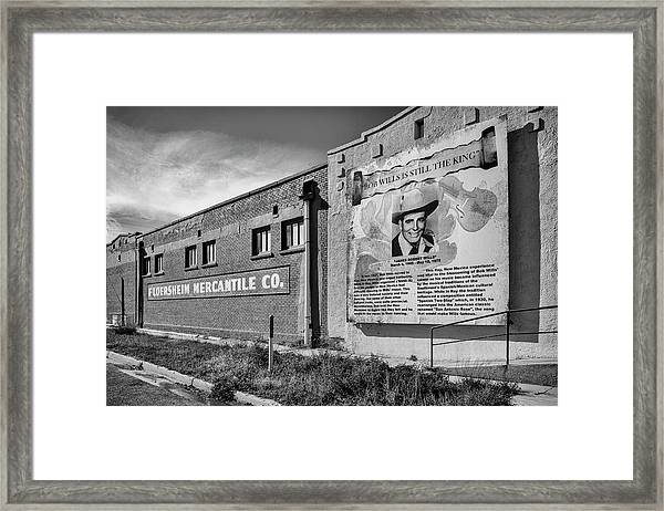 Country Legend Bob Wills In Roy New Mexico Framed Print