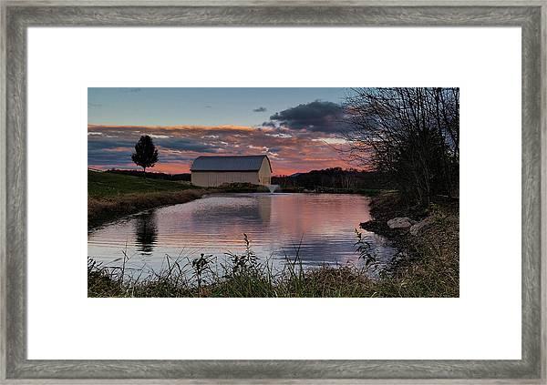 Country Living Sunset Framed Print