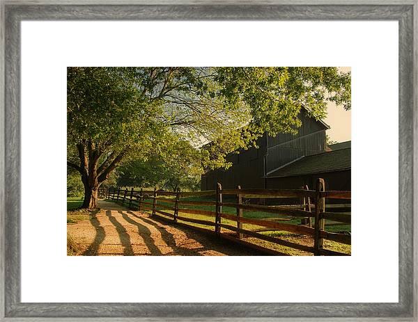Country Morning - Holmdel Park Framed Print