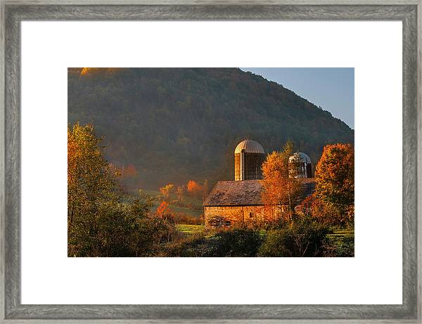 Country Mornings - West Pawlet Vermont Framed Print